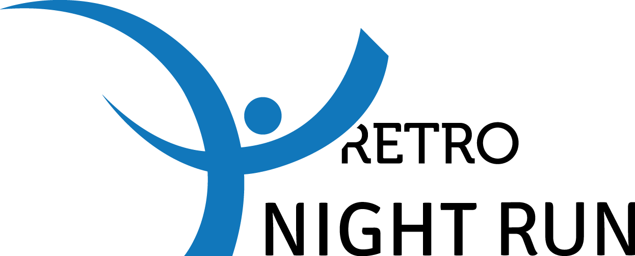 logo retro night run